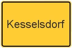 Ortsschild Kesselsdorf